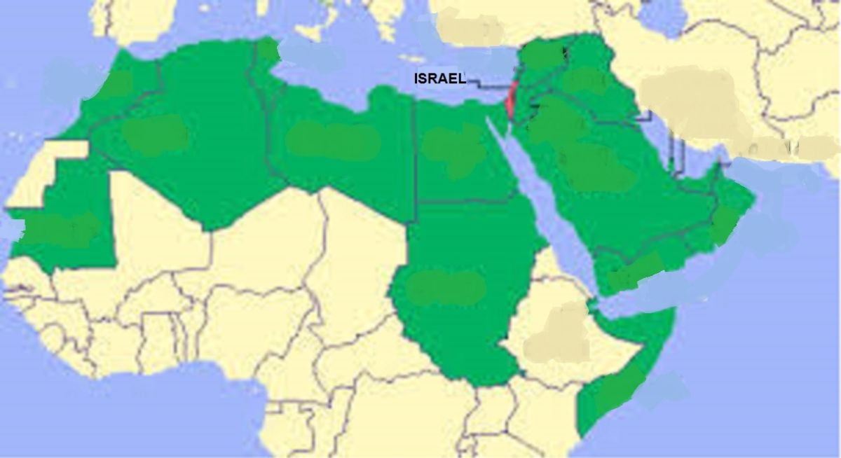Harper-Collins Releases Map For Israelis With No Muslim Countries ...