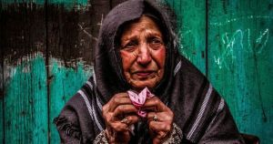crying Palestinian woman