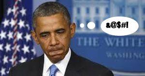 Obama grimacing