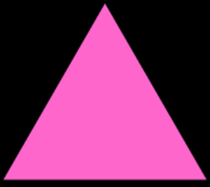 hotpink triangle