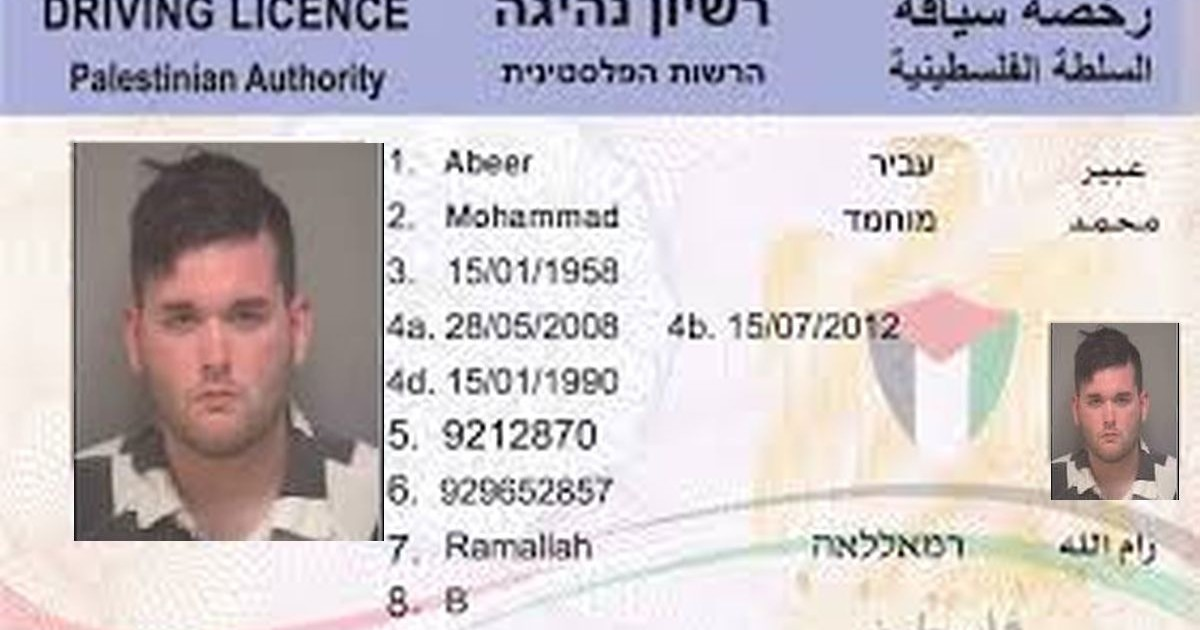 Driver License Authority Palestinian To Charlottesville Grants Honorary Preoccupied Territory