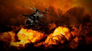 helicopter explosions